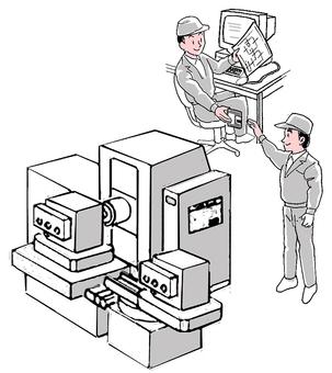 Automatic machine tool data transfer