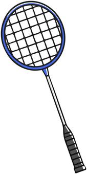 Blue badminton racket