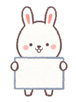 Information card rabbit