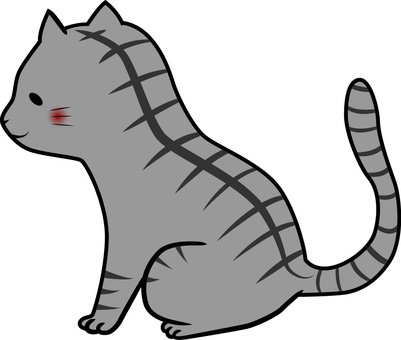 Cat (gray · tiger pattern)