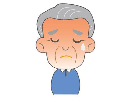 熱があるおじいちゃん