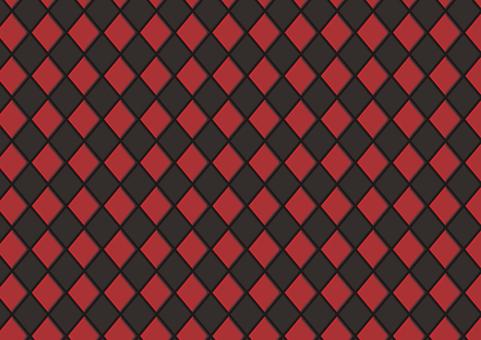 Argyle (black × red)