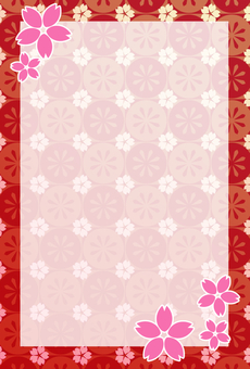 Sakura card _ vertical (with cherry blossoms)