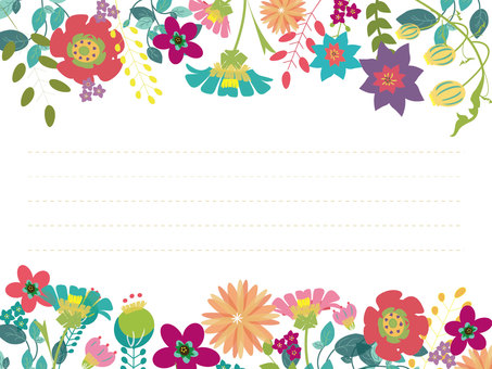 Flower message card