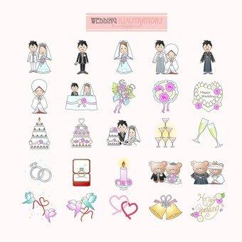 Illustrations de mariage