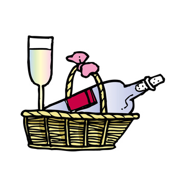 Wine in the basket