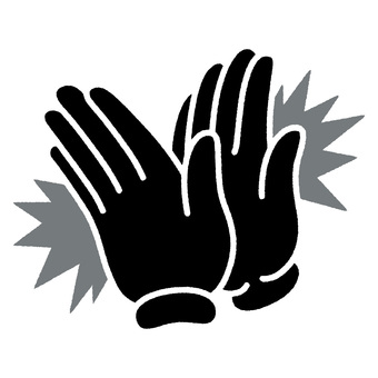 Clapping hand Black