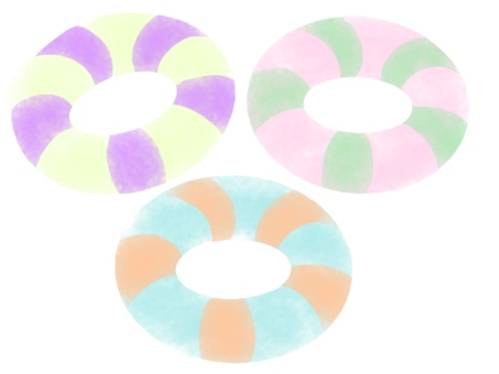 Striped colorful floats set