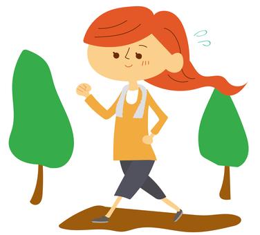 A woman walking