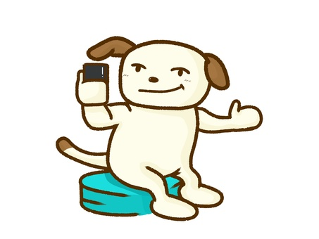 Dog in the smartphone