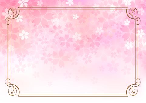 Cherry blossom material 322