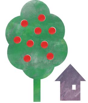 사과 나무와 집