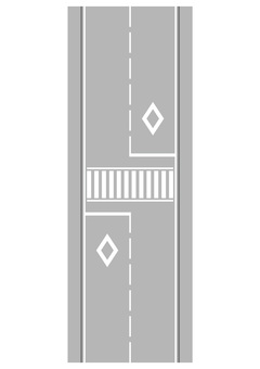 Road and crosswalk 1