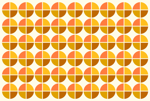 Retro Fabric Pattern Orange Yellow