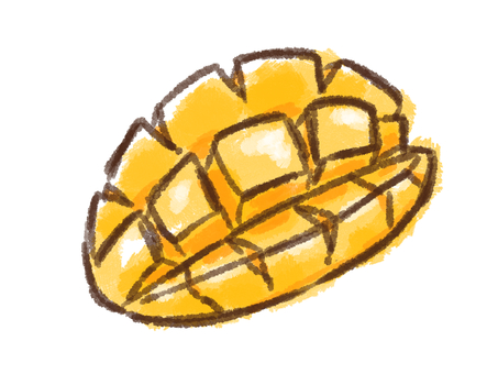 Crayon series [mango / cut]