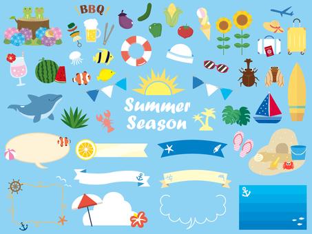 夏のイラスト素材集1