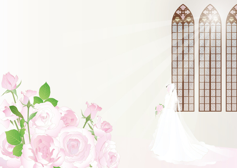 Chapel _ Decorative window _ Roses