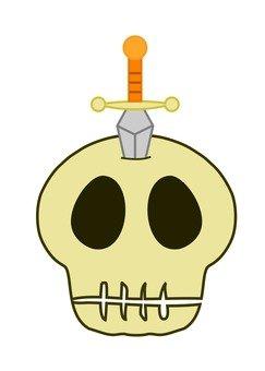 Stabbed skeleton