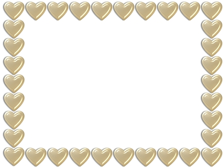 Metallic Heart - Gold Frame