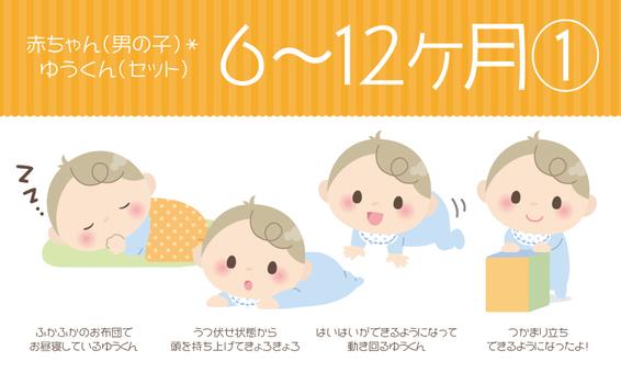 Baby (man) * 6 ~ 12 months ① 【Set】