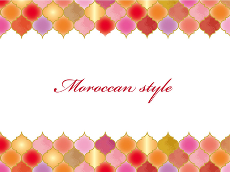 Moroccan style background red system
