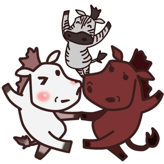 馬ダンス(集合)