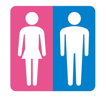 Men and women restroom mark 02