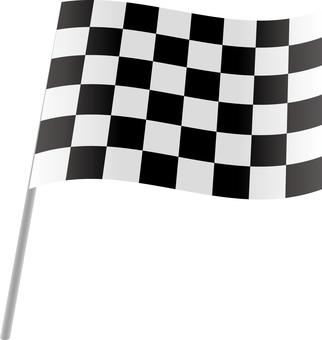 Checkered flag black