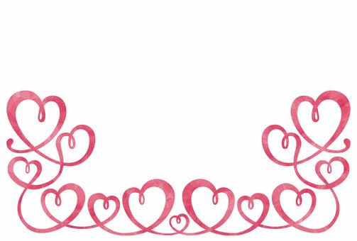 ハート/装飾フレーム/ピンク