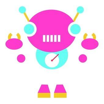 Pink ribbon robot