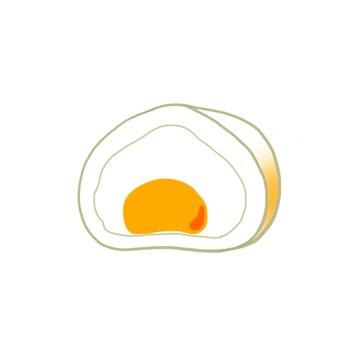Cream Daifuku Custard