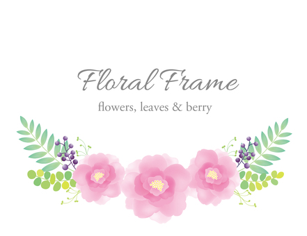 Soft flower frame