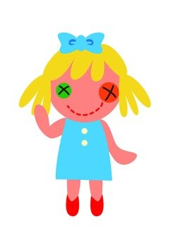 Girls mascot (blue)