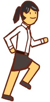 Long-sleeved shirt women running