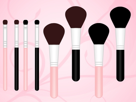 Makeup tools illustrations cosmetics