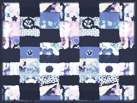 Japanese Pattern Background (Blue)