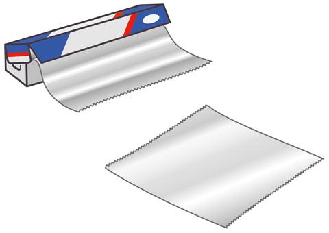 Boxed aluminum foil