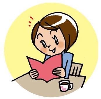 Mama reading a book