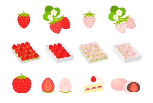 딸기 여러가지