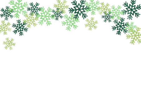 Watercolor frame Snow crystal