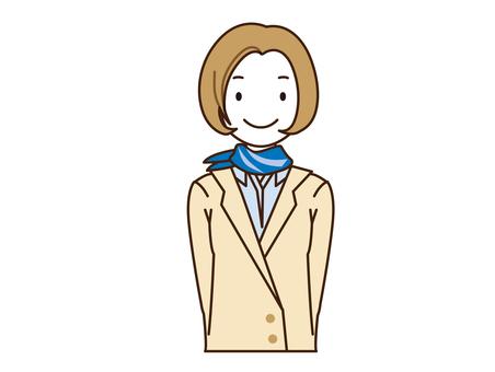 Smile receptionist staff
