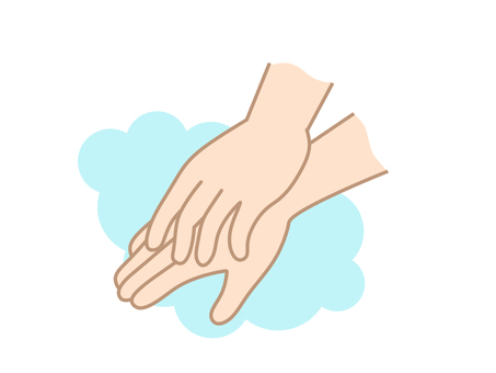화장실 손등