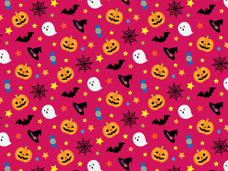 Halloween seamless pattern _ pink