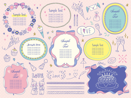 Handwritten girly set