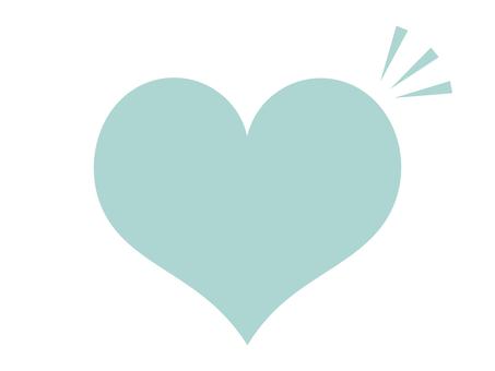 Heart icon silhouette blue