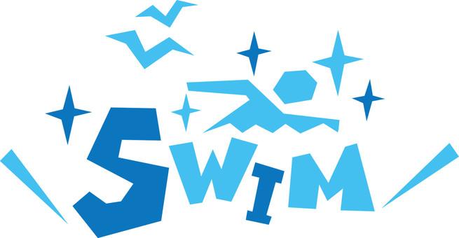 SWIM ☆ 수영 ☆ 수영 폿뿌로고