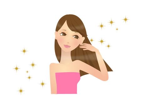 Beautiful hair (glitter)