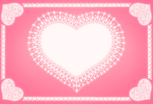 Heart's message card (pink)