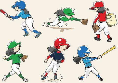 人物-女の子-野球