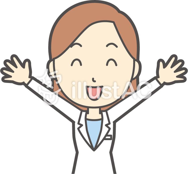 若者医師女性-112-バストのイラスト